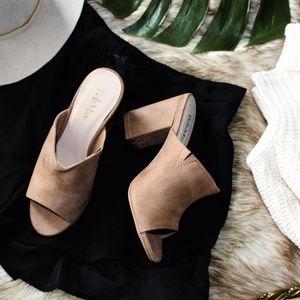 Shoes - 🆕// The Penelope// Tan vegan suede Mules